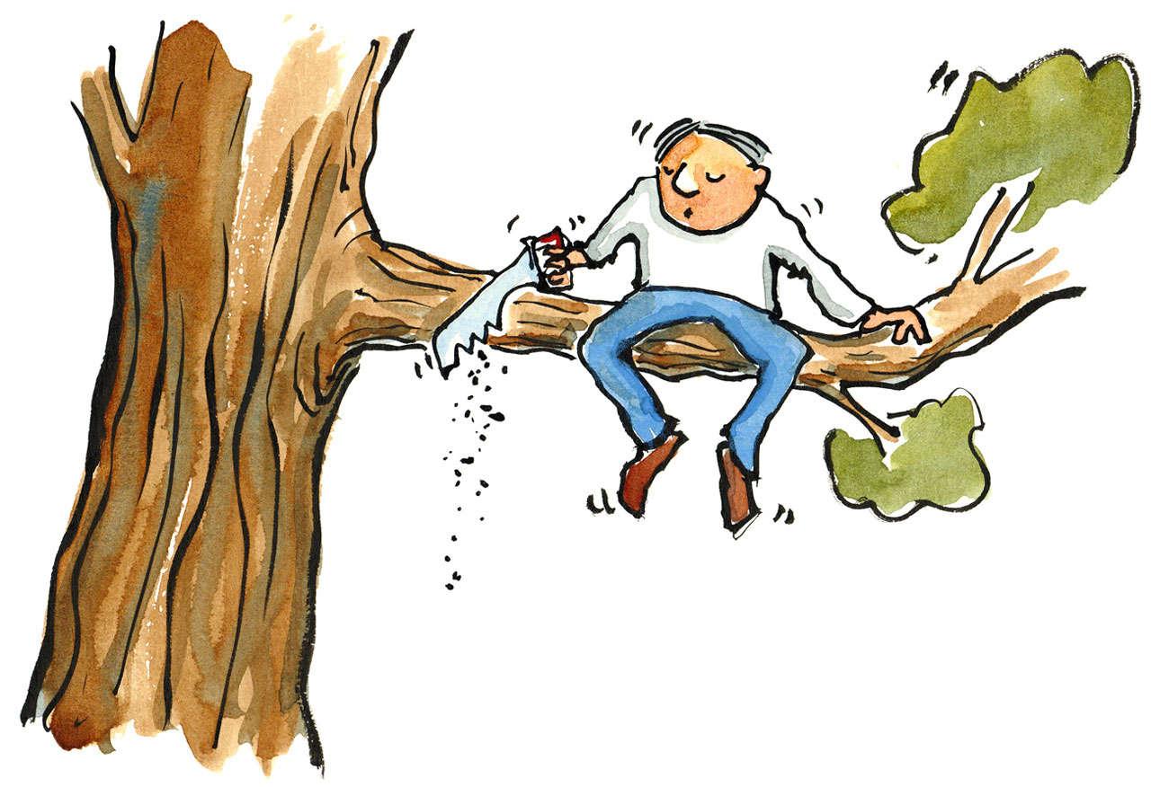 self-sabotage-cutting-tree