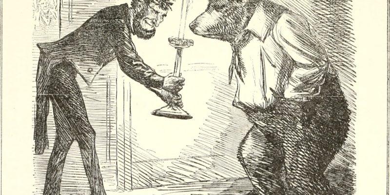 Карикатура на отношения России и Америки из журнала Punch от 1863 года. Изображение: University of Illinois Urbana-Champaign / archive.org