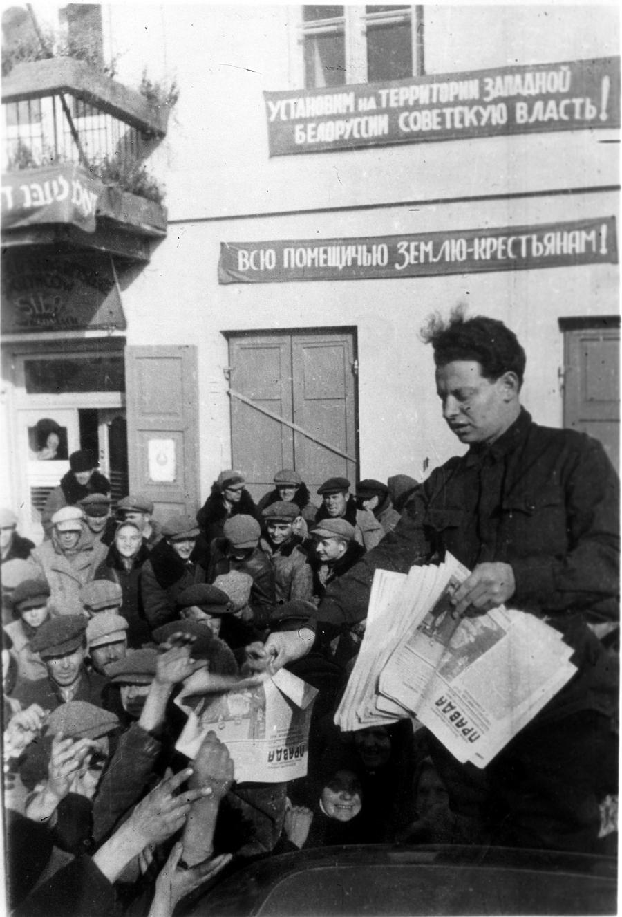 2 ноября 1939 г, Сморгонь. Митинг в местечке Сморгонь, посвященный воссоединению Западной Белоруссии с БССР Фото Белорусский государствен-ный музей истории Великой Отечественной войны