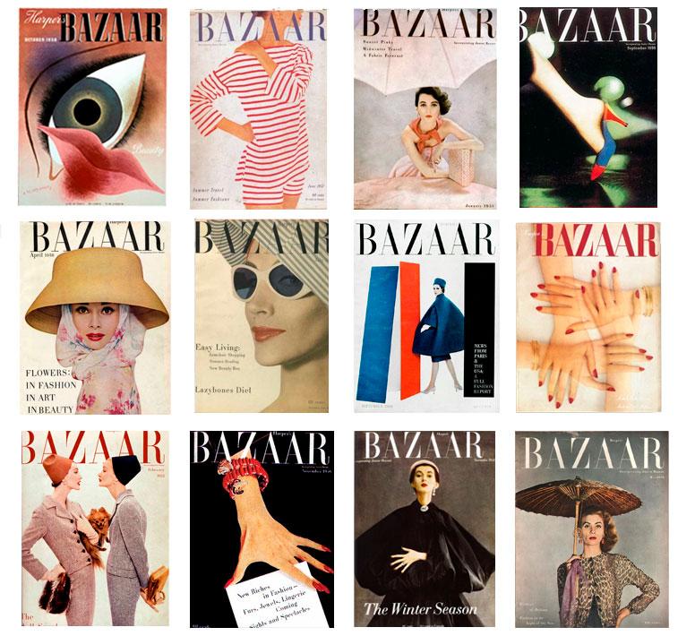 Обложки Harper's Bazaar, созданные Алексеем Бродовичем.